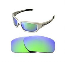 NEW POLARIZED CUSTOM GREEN LENS FOR OAKLEY VALVE SUNGLASSES